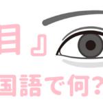 【発音付】目は中国語で何という?今スグ使える例文5選!