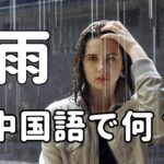 【発音付】「雨」は中国語で何?今スグ使える例文5選!