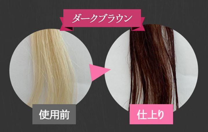 エメリル白髪染めカラーの選び方【ダークブラウン】