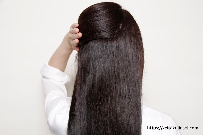 ブラトリ(エメリル ブラックデュアルトリートメント)の使用後の後ろ髪の白髪染め効果と白髪染め具合