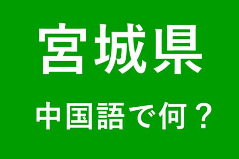 【発音付】宮城県の中国語とピンインは何?私は仙台出身です